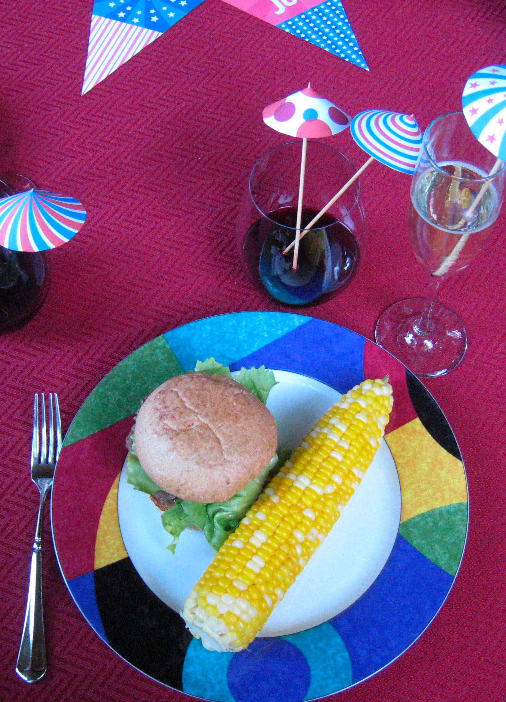 ... Bison Burgers with Washington Cabernet Onions and Wisconsin Cheddar