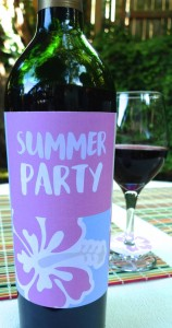Summer Party Wine Label