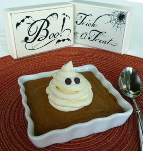Ghostly Pumpkin Custard