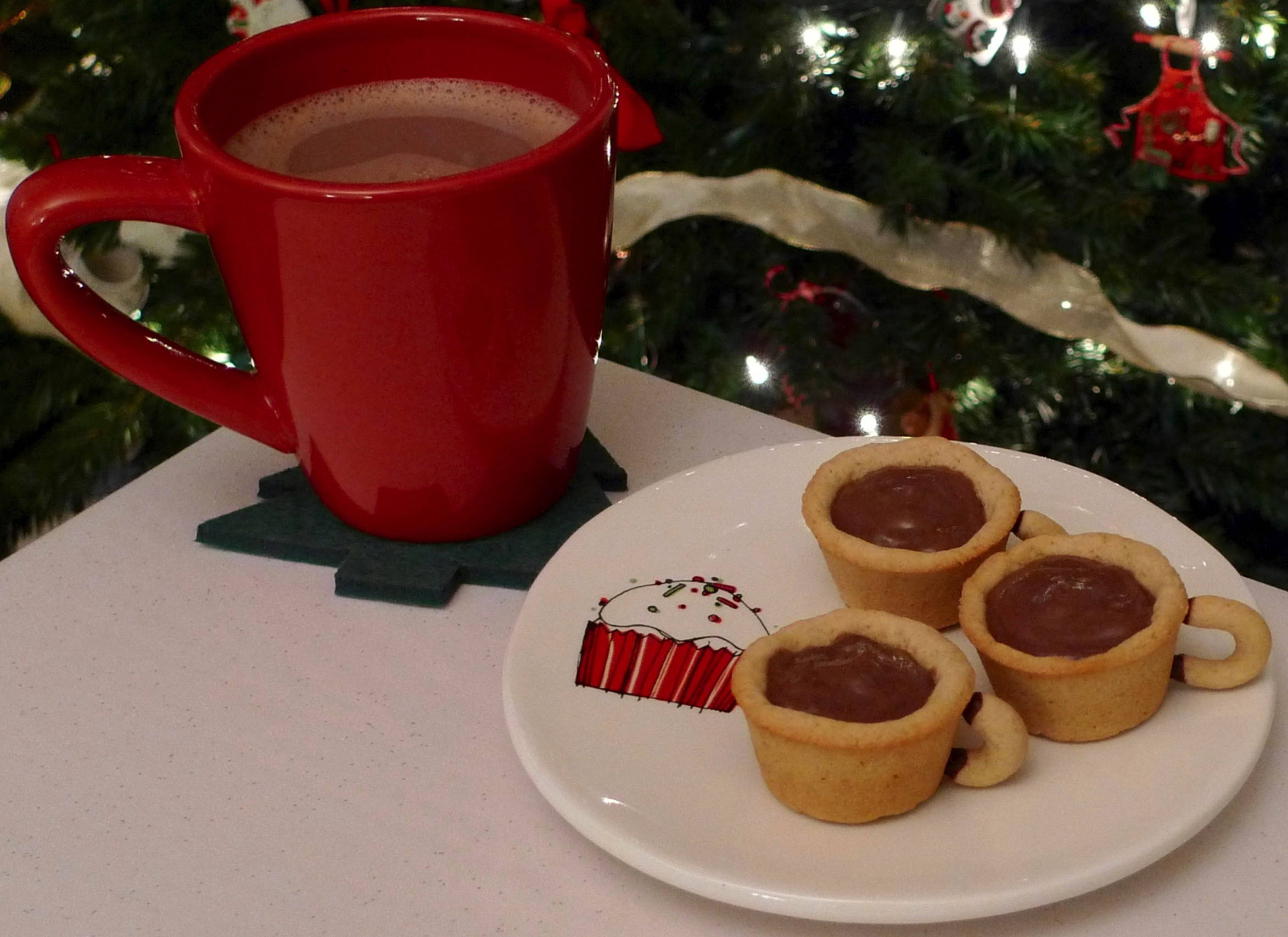 Merry Christmas Peppermint Hot Cocoa Cookie Cups Noon Cafe