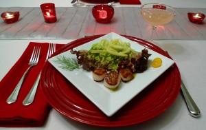 Scallops and Fennel Salad with Tarragon Kumquat Vinaigrette