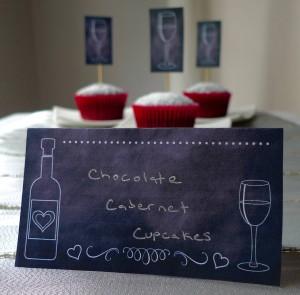 Chocolate Cabernet Cupcakes